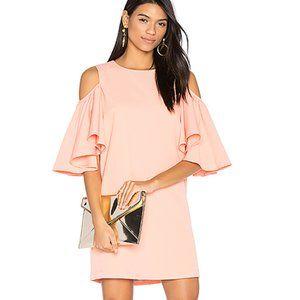 Blaque Label Shoulder Ruffle Cold Shoulder Dress